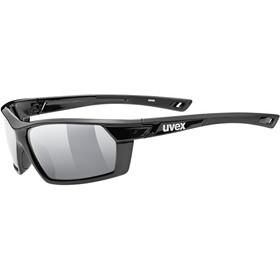UVEX sportstyle 225 Pola Gafas deportivas, black/litemirror silver
